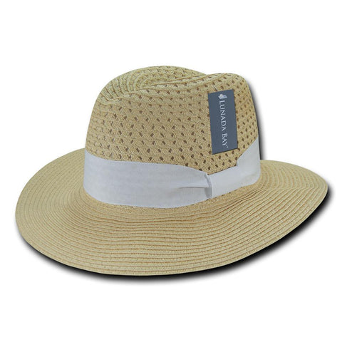 Wholesale Bulk Women's Paper Braid Straw Hat, Style K - L002