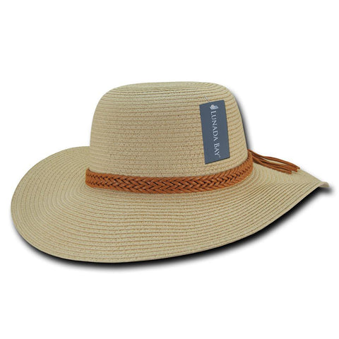 Wholesale Bulk Women's Paper Braid Straw Hat, Style L - L003