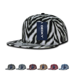 Wholesale Bulk Zebra/Tiger Snapback Flat Bill Hats - Decky 1060
