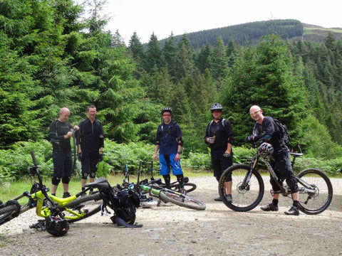 mountain biking wales with mates