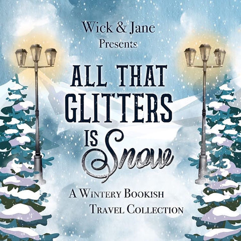 """All that Glitters is Snow"" A Wintery Bookish Travel Candle Box Set"