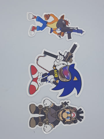 Console Wars Stickers/Decals