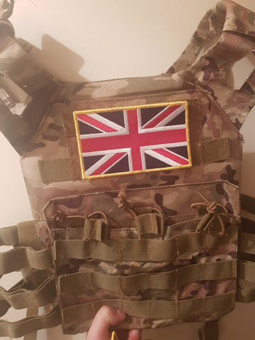 Large Embroidered UK flag Patch