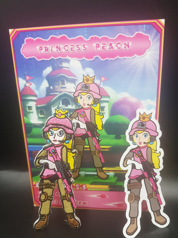 Embroidered Tactical Princess Peach Morale Patch
