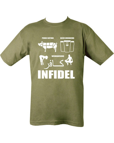 Pork (Infidel) T-shirt - Olive Green