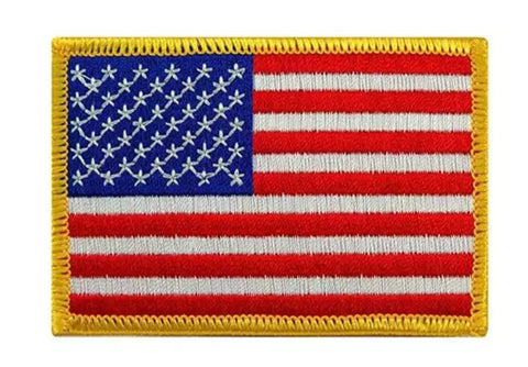 Large Embroidered USA flag Patch