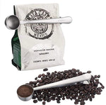 Stainless steel coffee spoon with bag clip