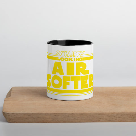 Scruffy Airsofter - Mug with Color Inside