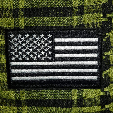 Black US Flag Patch