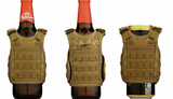 Mini tactical vest drinks koozie