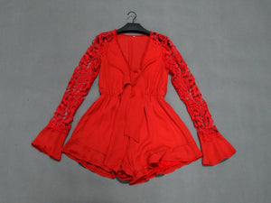 Vianna Playsuit Red