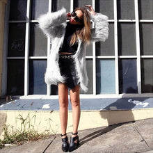Load image into Gallery viewer, Icy Faux Fur Jacket