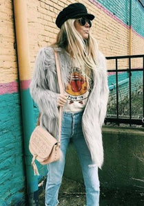 Icy Faux Fur Jacket
