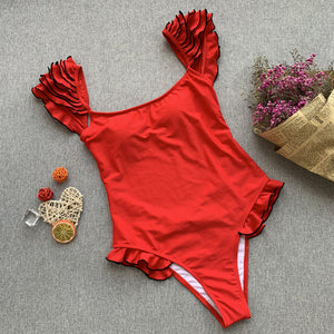 Alicia Swimsuit Red