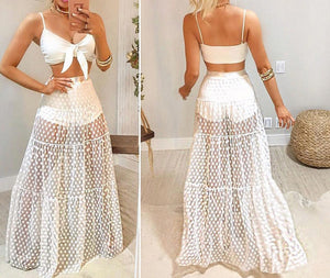 Elan Skirt White