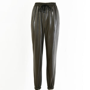 Cassie Faux Leather Joggers