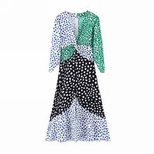 Load image into Gallery viewer, Joan Patchwork Design Pattern Long Sleeve Dress