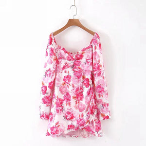 Aria Floral Long Sleeve Dress