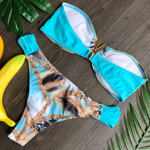 Bikini Two Piece Set In Print Design - Loriane