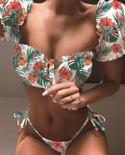 Summer Bikini Set Tropical Design - Birdie Bikini