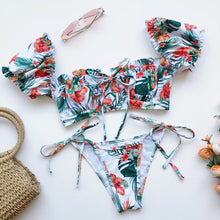 Load image into Gallery viewer, Summer Bikini Set Tropical Design - Birdie Bikini