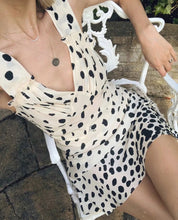 Load image into Gallery viewer, Boho Mini Polka Dot Dress  - Lucia