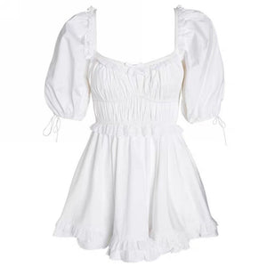 Summer Dress in White -Lilly Dress
