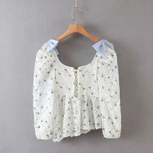 Load image into Gallery viewer, Embroidery Lace Top in White - Love Bug Top