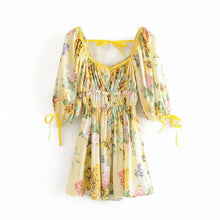 Load image into Gallery viewer, Summer Print Long Sleeve Dress - Sunshine Dress