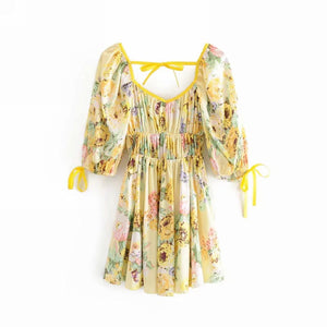Summer Print Long Sleeve Dress - Sunshine Dress