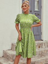 Load image into Gallery viewer, Summer Midi Lenght Floral Dress with Sleeves (LALIA)