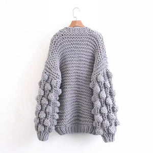 Cardigan Ballon Sleeves Crochet - Ari Cardigan