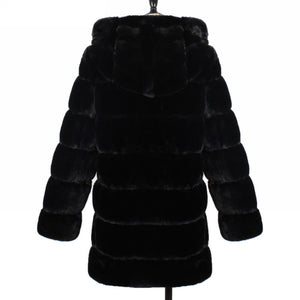 Lillie Faux Fur Coat With Hood