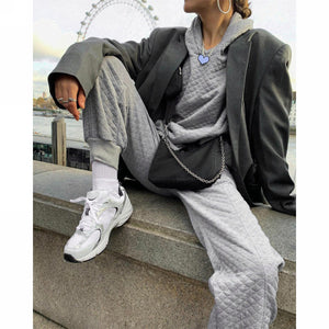 Grey Tracksuit Set - Joggers & Jumper Combo - Kelly