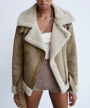 Load image into Gallery viewer, Tillie Faux Suede Aviator Jacket