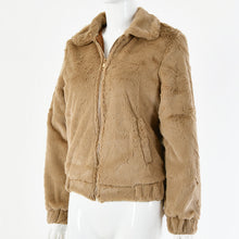 Load image into Gallery viewer, Faux Fur Crop Jacket - Telia Jumper