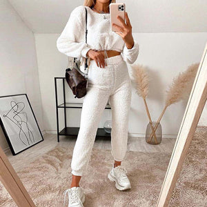 Cosy Loungwear Set In Cloud White