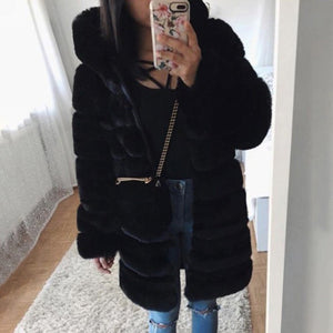 Faux Fur Hooded Jacket- Charlotte