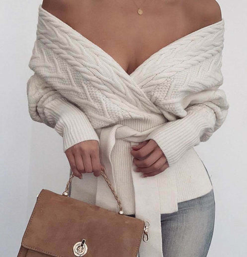 Clara Off Shoulder Long Sleeve Jumper