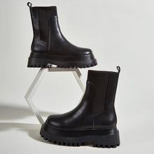 Load image into Gallery viewer, Platform Ankle Flat Boots - Philly