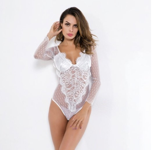 Estelle Long Sleeve Lace Bodysuit