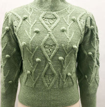 Load image into Gallery viewer, Cable Knit Green Jumper - Gina