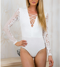 Load image into Gallery viewer, Edwina Bodysuit White