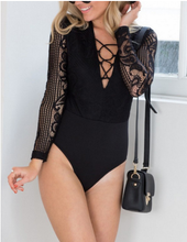 Load image into Gallery viewer, Edwin Bodysuit Black