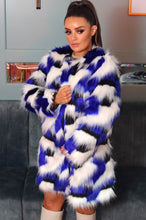 Load image into Gallery viewer, Diane Faux Fur Print 3/4 Length Coat