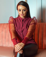 Load image into Gallery viewer, Arianna Sheer Organza  Sleeve Blouse