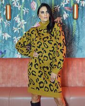 Load image into Gallery viewer, Christina Leopard Print Jumper Dress Long Sleeves Cosy Knit