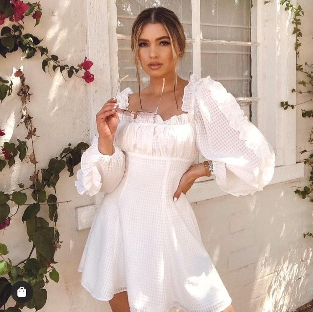 Fiona White Summer Dress