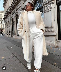 Alison Off White   Teddy Coat