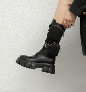 Derrie Combat Boots With pouch
